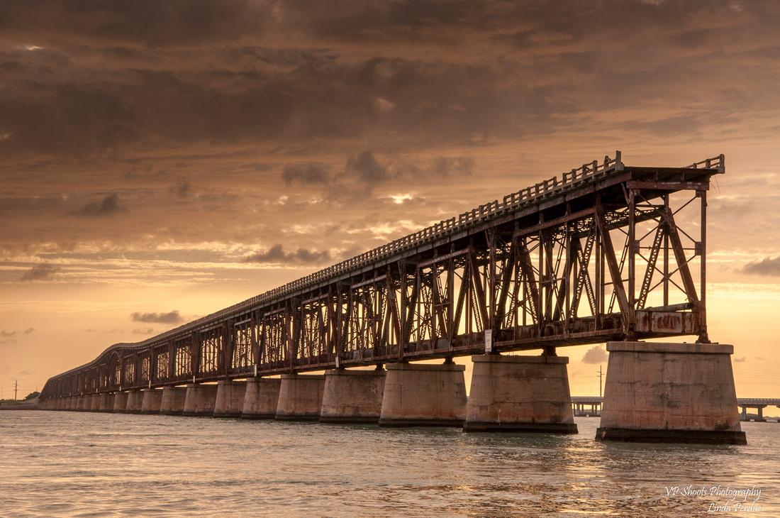 In the Florida Keys, the old seven mile bridge from Bahia Honda State Park.