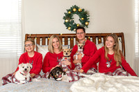 Christmas Portrait with dogs and family